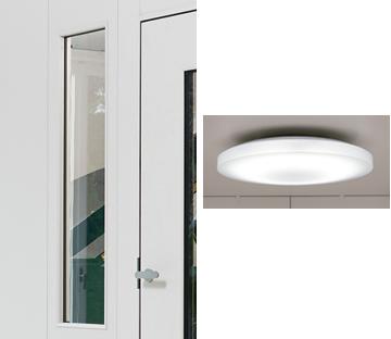 FIX窓付きパネルと天井用のLED照明